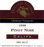 Domaine Alfred's 1998 Pinot Noir, Califa