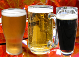 Three glasses of fall beer