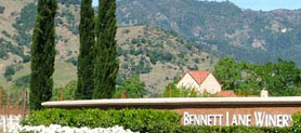 A view of Bennett Lane Winery in Napa, California