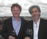 Simply Red's Mick Hucknall and partner, oenologist Salvo Foti