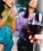 Be a bit generous with your estimates so that you have an adequate supply of wine rather than run short