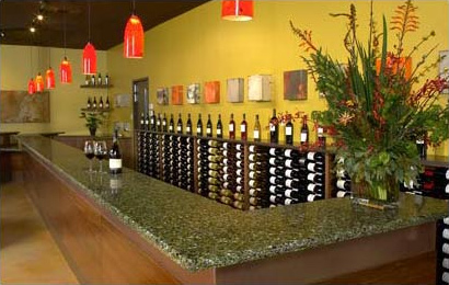 Taste at Oxbow's wine tasting bar in Napa, California