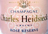 Charles Heidsieck's N.V. Rosé Réserve, one of our selections on the Top 10 Rosé Champagnes list