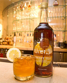 A bottle of Firefly Sweet Tea vodka