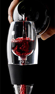Vinturi Wine Aerator makes decanting wine quick and easy.