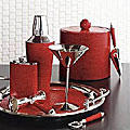 Julia Knight Red Leather Barware
