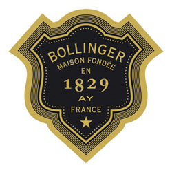 The logo of Bollinger Champagne House, founded in 1829
