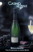 Bollinger is the official Champagne of the James Bond movies