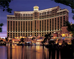 Bellagio Las Vegas at night