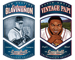 Atlanta Braves' Tom Glavine (Cabernet Glavingnon) and Boston Red Sox's David Ortiz (Vintage Papi).