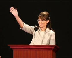 Sarah Palin, the Republican vice presidential nominee