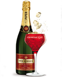 Piper-Heidsieck Piscine and the red Champagne coupe