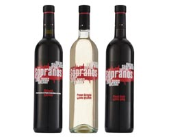 The Sopranos Chianti, Pinot Grigio and Pinot Noir