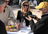 Tasting wines at Rosenthal - The Malibu Estate in California