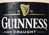 Guinness Draught, one of our Top 10 Irish Beers