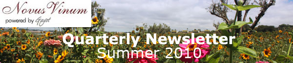 Quarterly Wine Newsletter: Summer 2010
