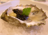 Washington Kumamoto Oyster and Osetra Caviar Paired with J Vintage Brut, from the J Vineyards & Winery's Essence Tasting
