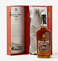 Highland Park 30-Year Single Malt Whisky is distilled in the remote Orkney Islands