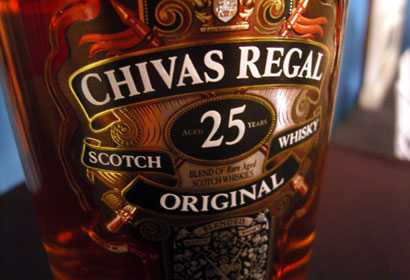 Bottle of Chivas Regal 25-Year-Old Original Scotch Whisky
