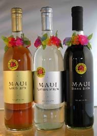 Maui Gold Rum, Maui Platinum Rum and Maui Dark Rum