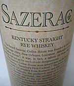 Sazerac Rye Whiskey label