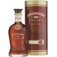 A bottle of Appleton Estate 30 Year Old rum