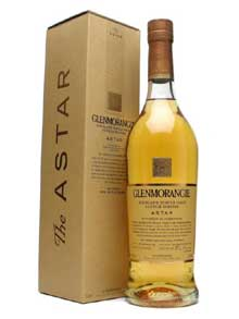 A bottle of Glenmorangie Astar Scotch