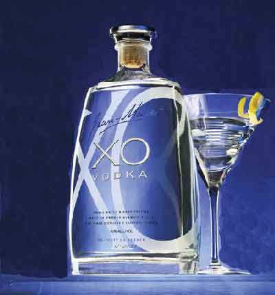 Jean-Marc XO Vodka comes in a stylish flask