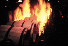 Charring the insides of new barrels