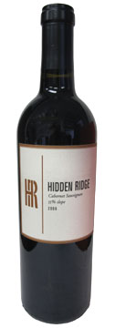 Hidden Ridge Vineyard 2006 Cabernet Sauvignon, our Wine of the Week review