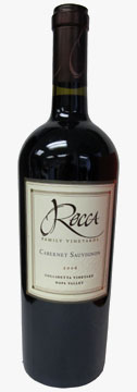 Rocca Family Vineyards 2006 Cabernet Sauvignon, Collinetta Vineyard, Napa Valley, is our Wine of the Week review