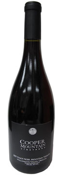 "Cooper Mountain Vineyards 2007 Pinot Noir ""Mountain Terroir"""
