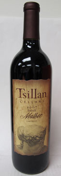 Tsillan Cellars 2007 Estate Malbec