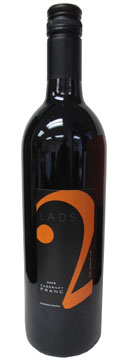 A bottle of 2 Lads Winery 2008 Cabernet Franc, our Wine of the Week review