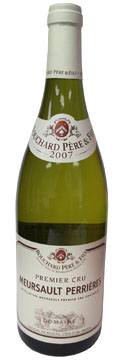 A bottle of Bouchard Pere and Fils 2007 Meursault Perrieres Premier Cru, our Wine of the Week review
