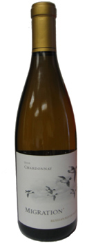 A bottle of Duckhorn 2008 Migration Russian River Chardonnay, our Wine of the Week review