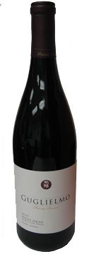 A bottle of Guglielmo Winery 2007 Private Reserve Petite Sirah, our Wine of the Week review