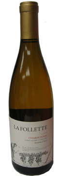 A bottle of La Follette 2008 Sangiacamo Chardonnay, our Wine of the Week review