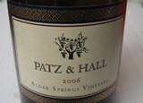 Wine label of Patz & Hall 2006 Alder Springs Vineyard Chardonnay