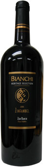 Bianchi Winery Heritage Selection 2005 Zinfandel-Zen Ranch, Paso Robles