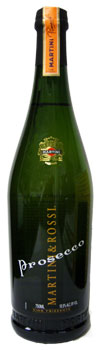 Bottle of Martini & Rossi Prosecco