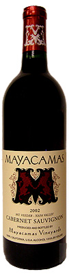 Bottle of 2002 Mayacamas Cabernet Sauvignon Wine