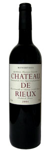Bottle of 2004 Chateau de Rieux Wine